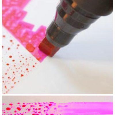 Encre et stylo test de tension de surface